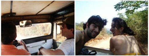 Carona de jipe e caminhão