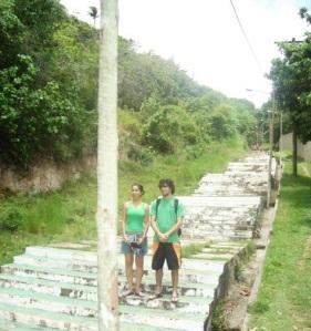 Escadaria que leva a Cidade Alta de Porto Seguro