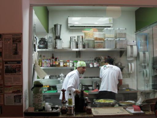 Cozinha restaurante vegetariano Bio Carioca