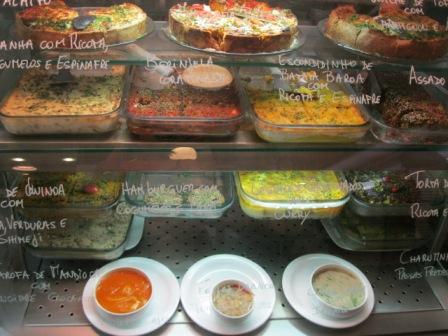 Pratos do restaurante vegetariano Bio Carioca