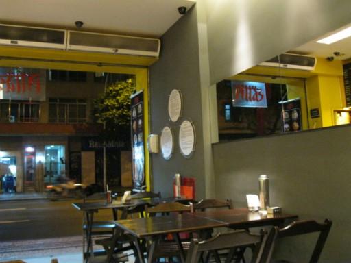 restaurante vegetariano Pittas Espaço interno