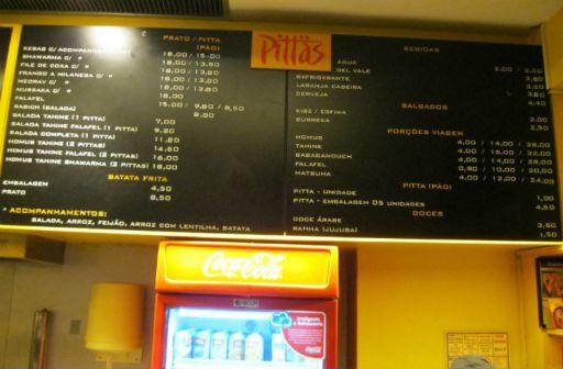 restaurante vegetariano Preços Pittas