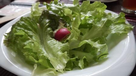 Salada verde organica com maionese de soja