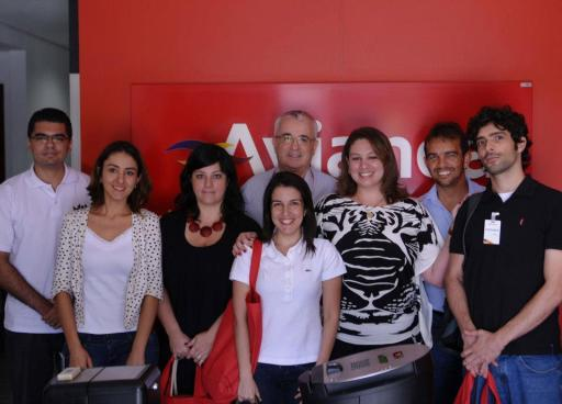 Blogueiros na Avianca com Tarcisio Gargioni. Foto - Eduardo Ogata