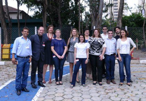 Blogueiros na TAM. Foto - Eduardo Ogata