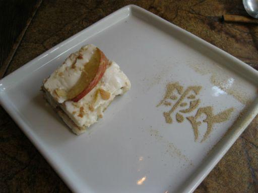 Lasanha doce de maça com creme de limao siciliano