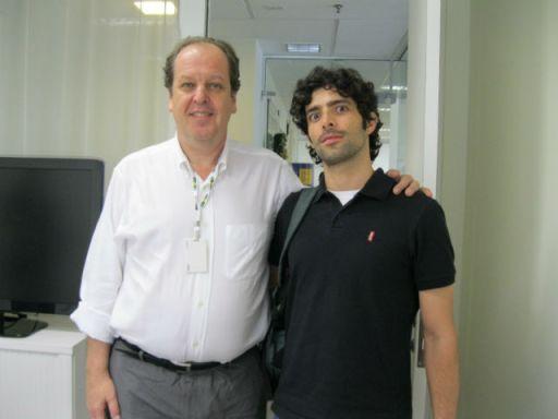 Presidente da ABEAR Eduardo Sanovicz e o Rodrigo