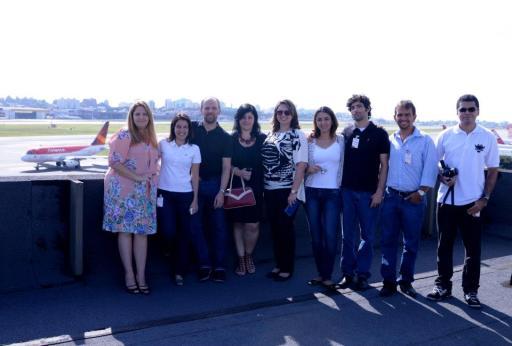 Reunidos na cobertura do prédio da Avianca. Foto - Eduardo Ogata