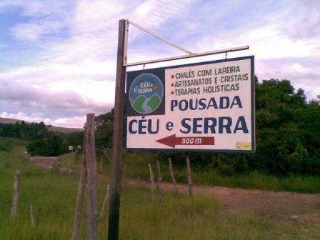Estrada para Pousada Céu e Serra