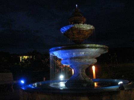 Fonte iluminada