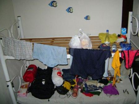 lavando roupas no hotel pousada