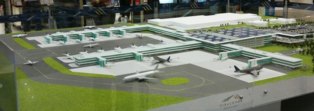 Maquete do aeroporto de Viracopos