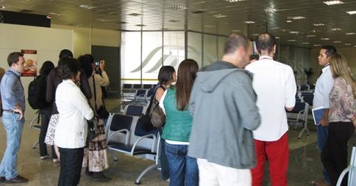 blogueiros aeroporto