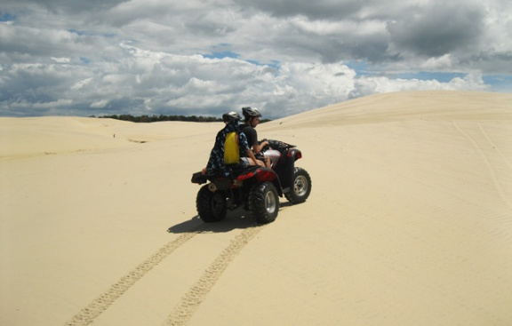 quadriciclo nas dunas