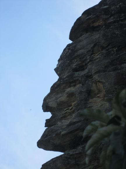 face do indio na pedra