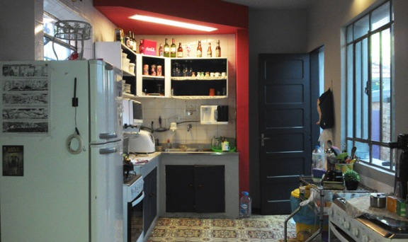 cozinha do hostel