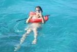blogueira mergulhando