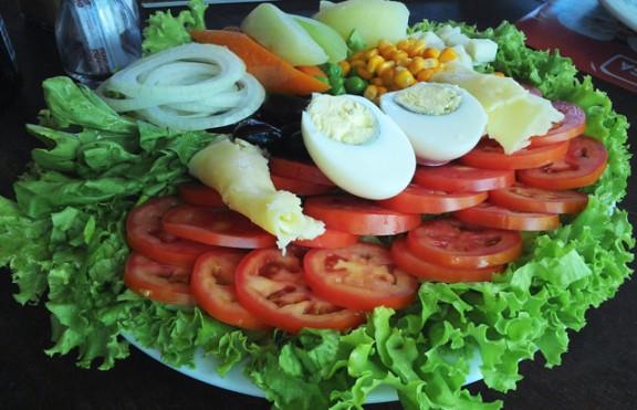 salada para vegetariano