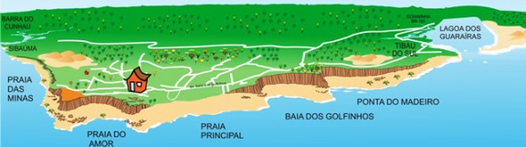 mapa praias de pipa