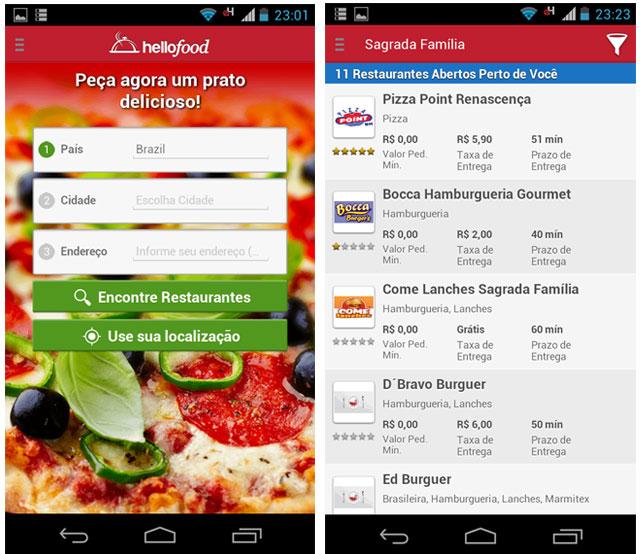aplicativo comida online