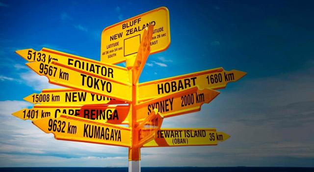 placas de destinos