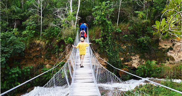 trilha ponte suspensa