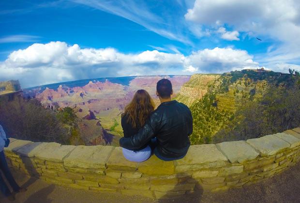 namorados no grand canyon