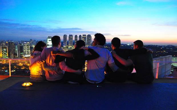 viagem com amigos