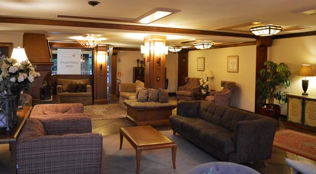 Sala de estar hotel alpestre