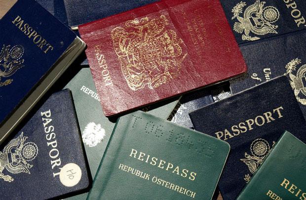 cores passaporte