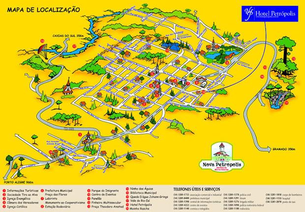 mapa de nova petropolis